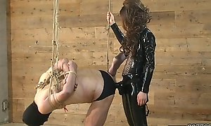 Femdom Kira Chubby Strapon connected with slave'_s botheration