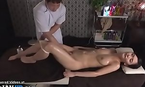 Japanese rub down sex with beautiful neonate
