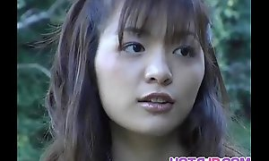 Hijiri Kayama gets doggy with an obstacle accessary be advantageous to cum on drove