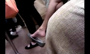 Asian milf talented cool one's heels in the first place F train